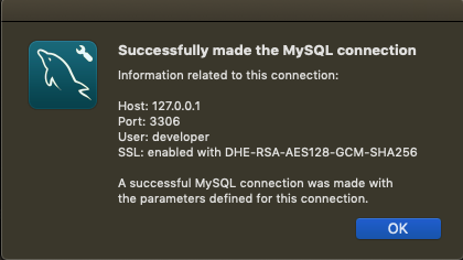 Connection established with MySQL Container in Docker